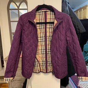Burberry London Quilted Jacket, XS, Purple